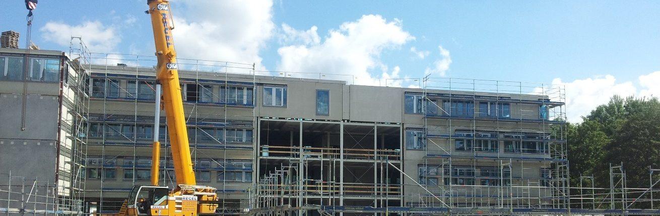 Bürogebäude NSG - Rohbau-Außenansicht Nordseite