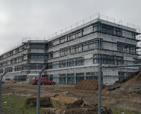 Bürogebäude NSG - Rohbau-Außenansicht Südseite