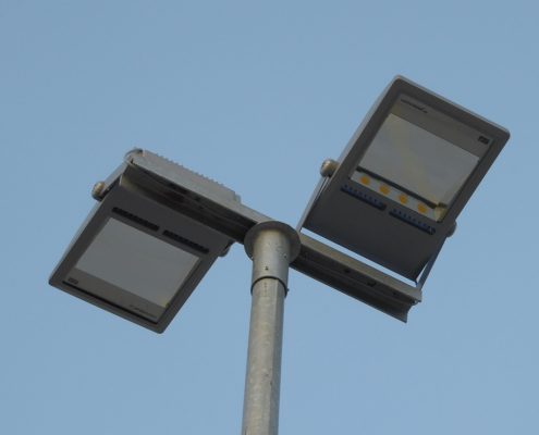 LED-Parkplatzbeleuchtung für die Logistikhalle Palletways